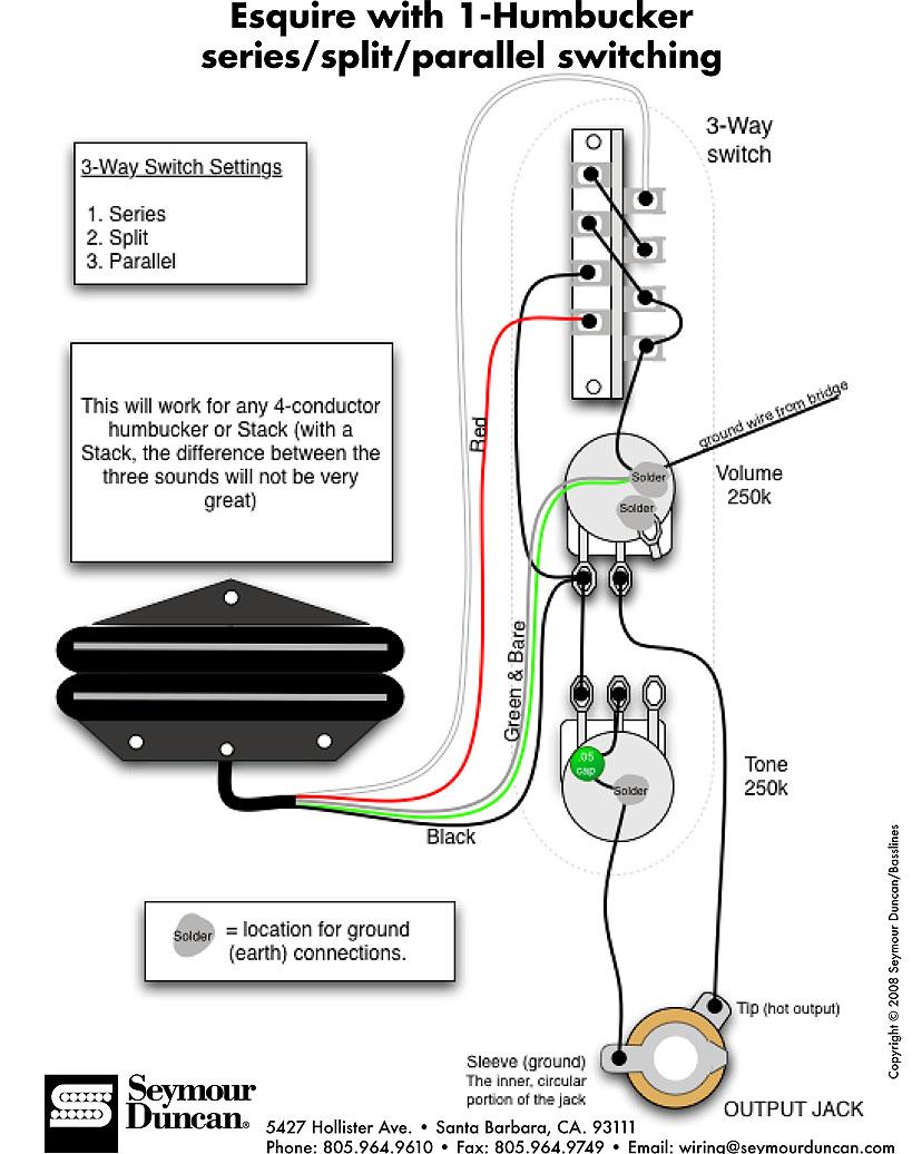 Seymour Duncan Hot Rails Bridge Pickup Wiring Diagram