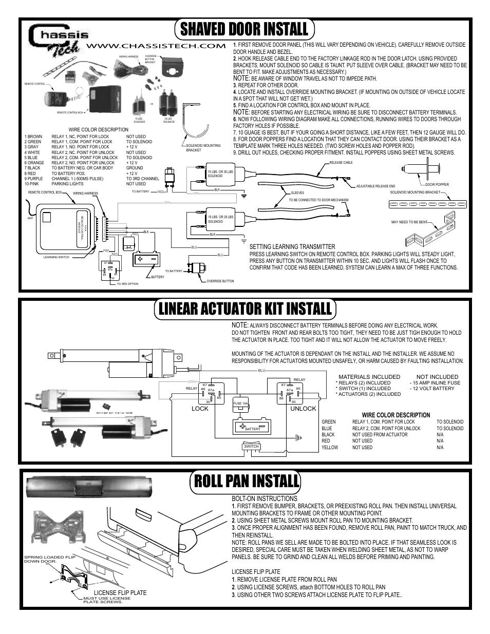 Shaved Door Handle Kit Wiring Diagram