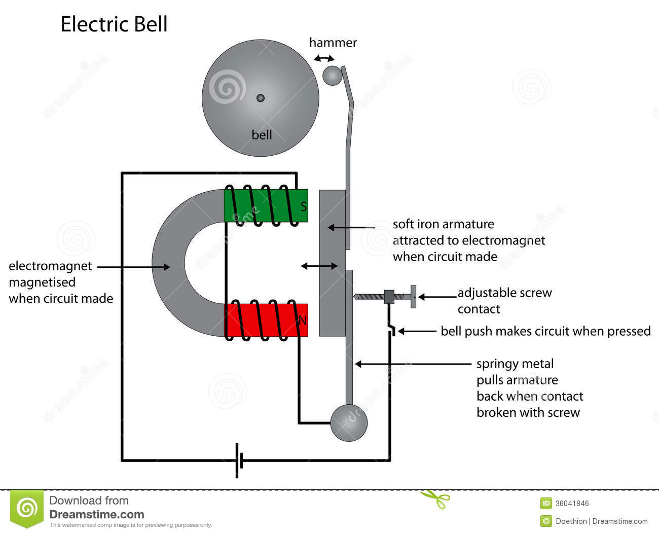 Single Button Doorbell Wiring Diagram