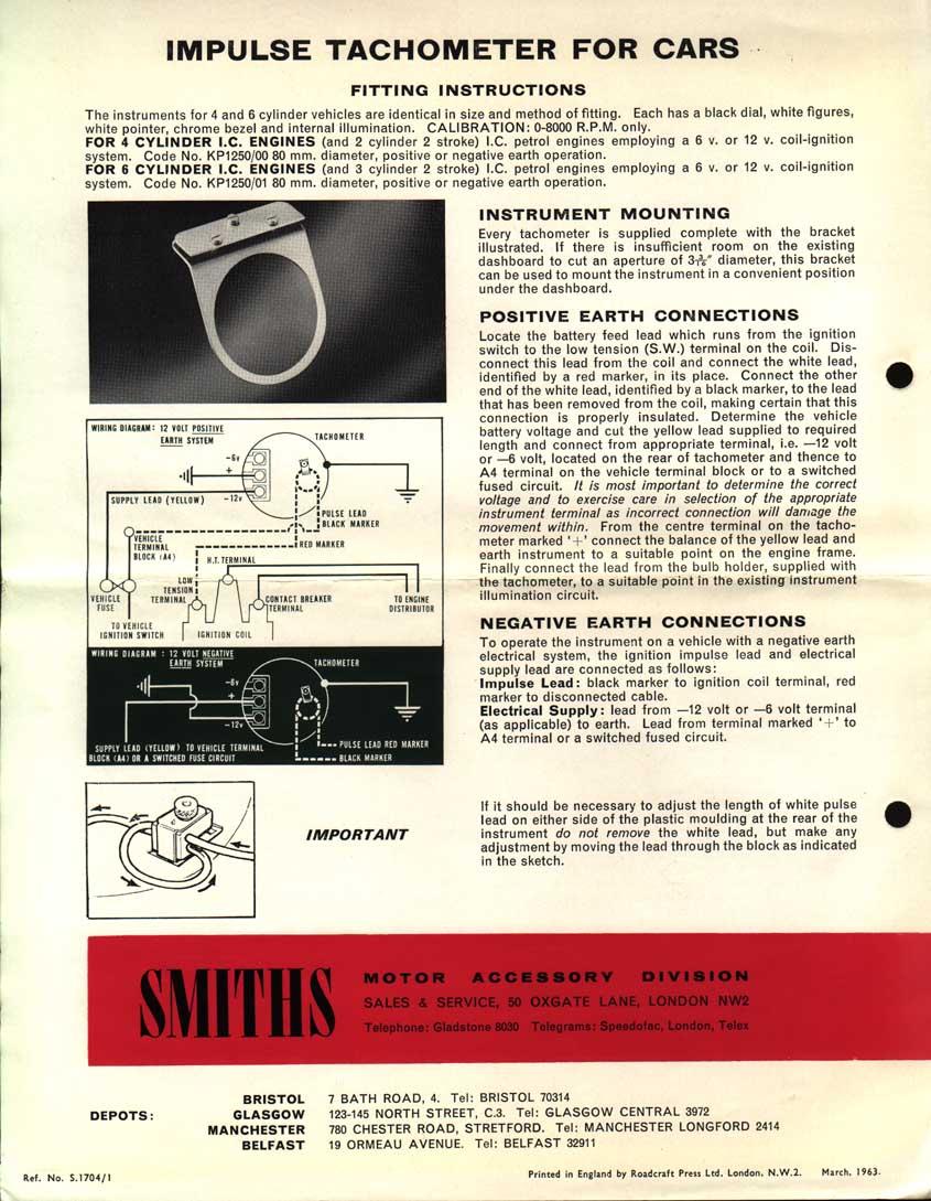 Smiths Rev Counter Wiring Diagram