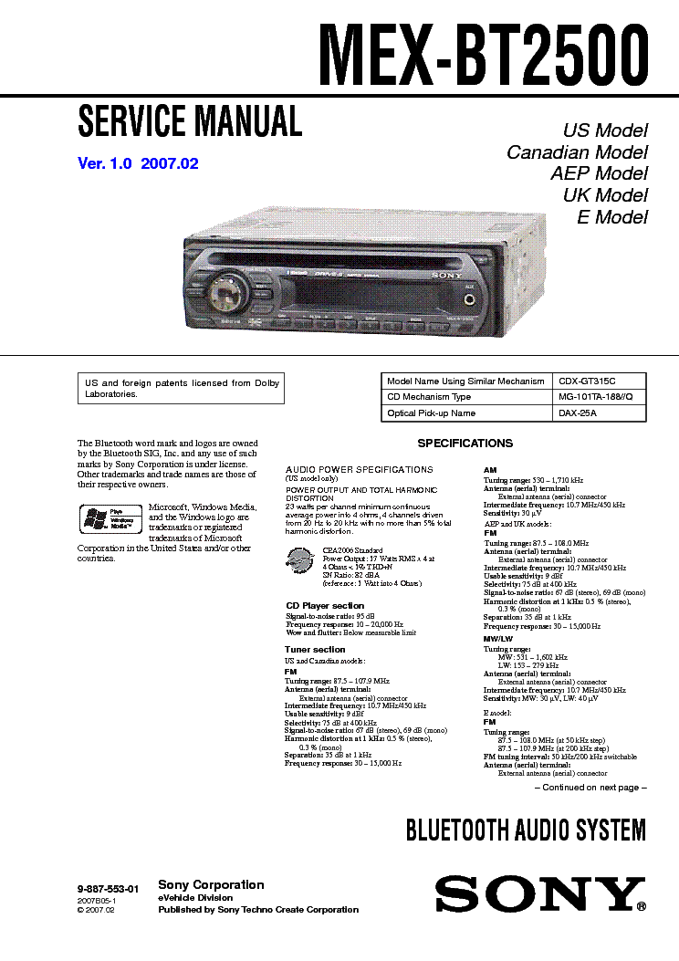 sony cdx m600 wiring diagram wiring diagrams  sony cdx m630 service manual