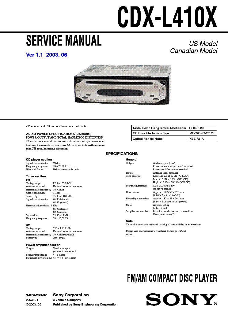 Sony Cdx Gt565up Wiring Diagram