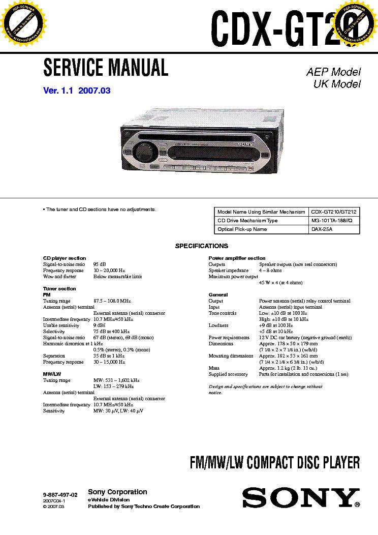 Sony Cdx Gt56ui Wiring Diagram