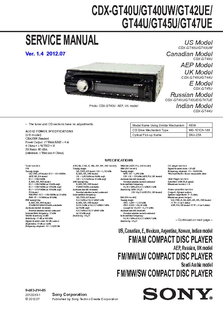 Sony Cdx Gt575up Wiring Diagram