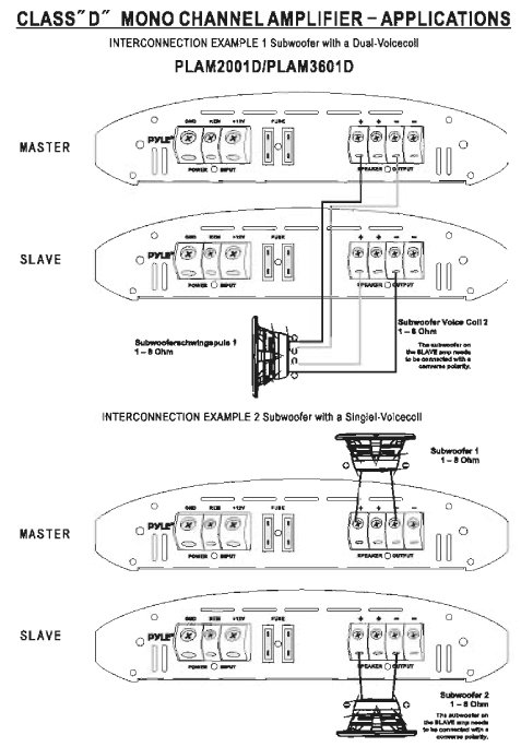 Sony    Xplod    1000w Class D    Wiring       Diagram