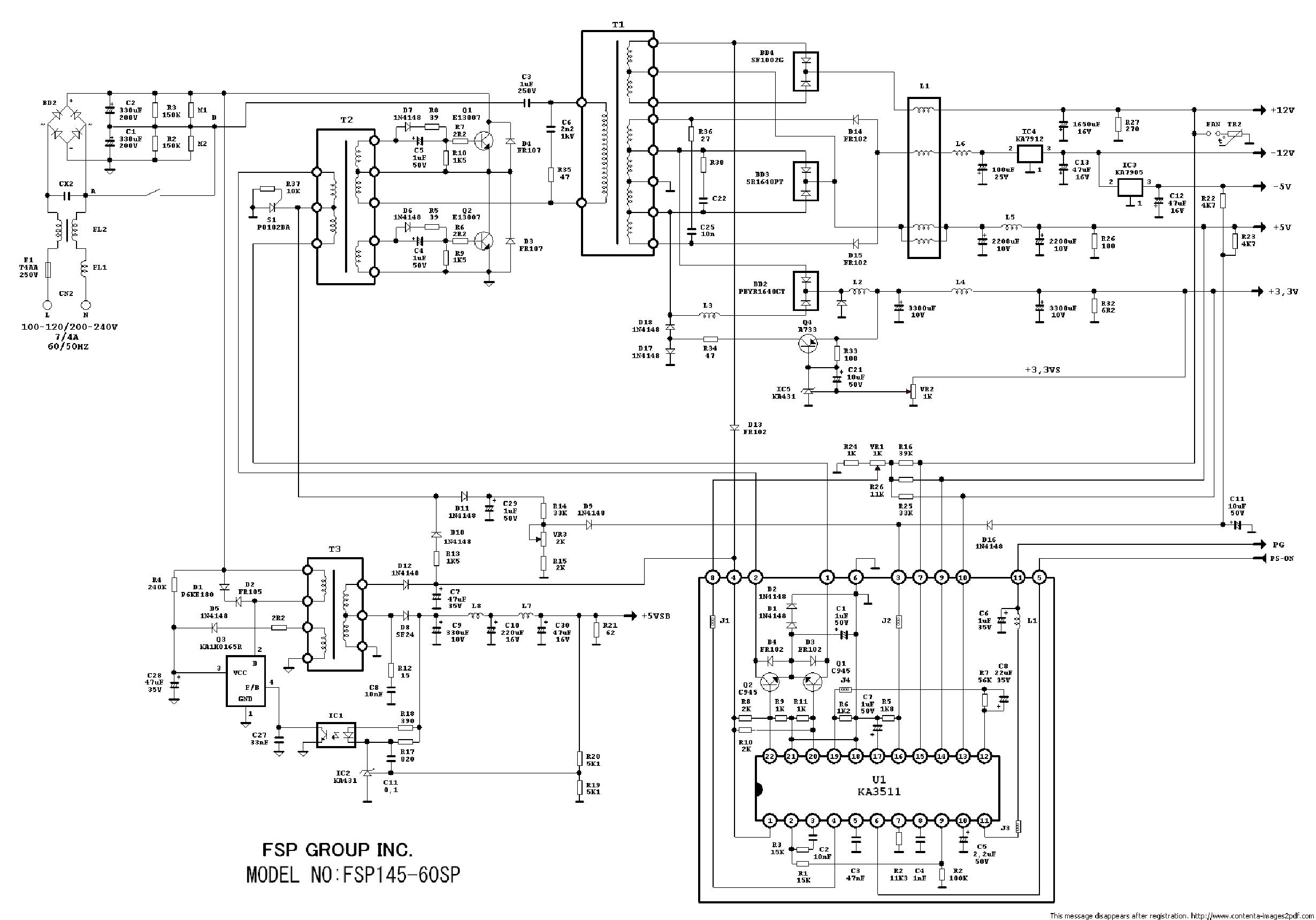 Sparkle Power Supply Fsp250