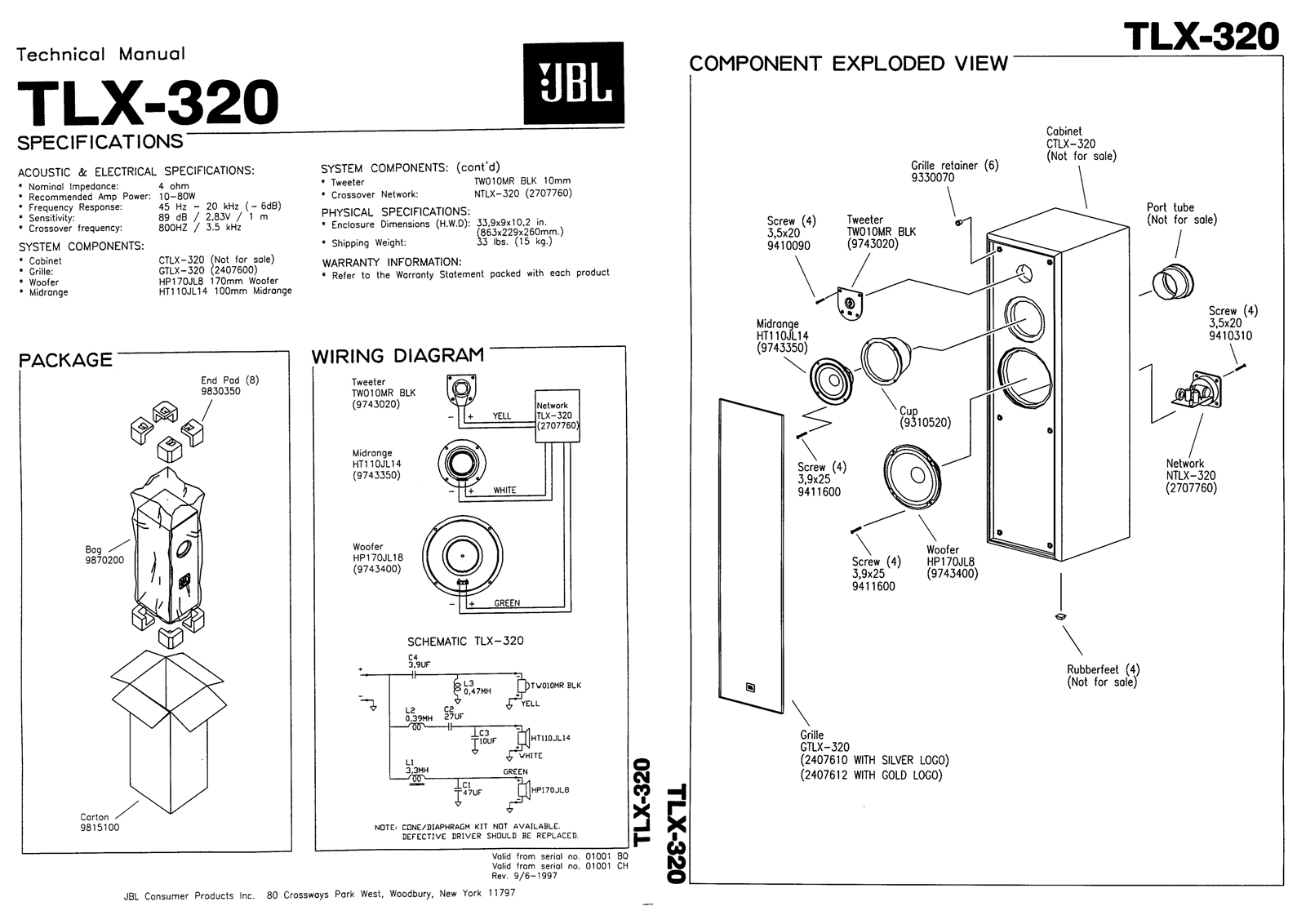 speaker crossover wiring diagram dcm kx series