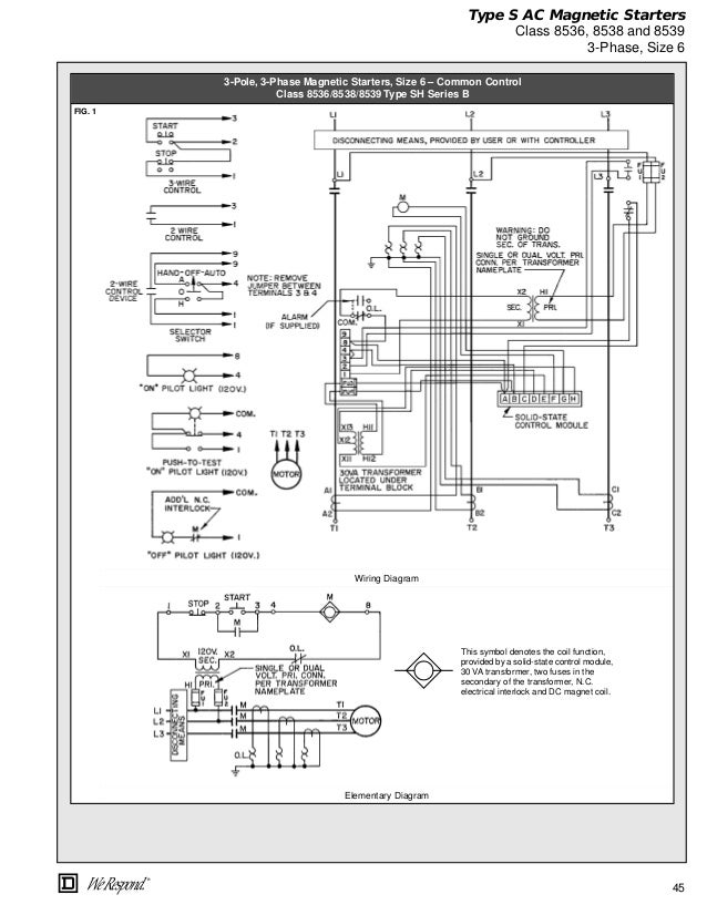 Square D 8736 Wiring Diagram on