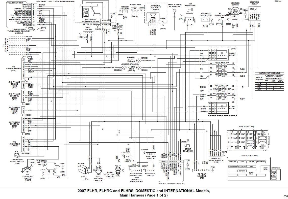 Starter Relays Wiring Diagram Harley 03 Road Glide
