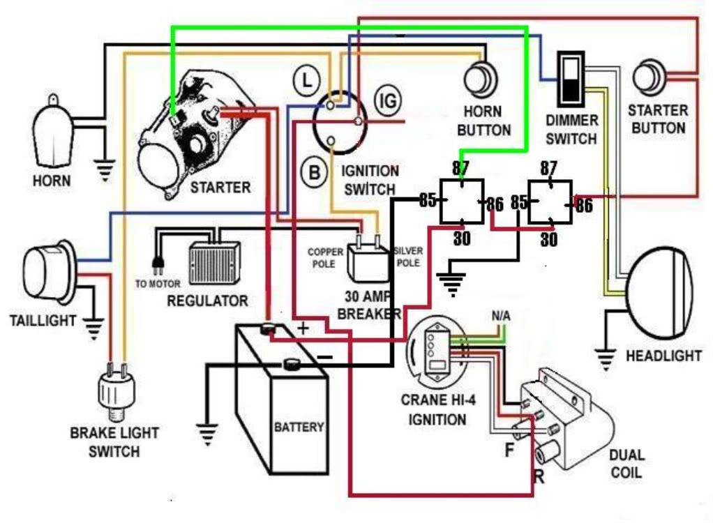Starter Relays Wiring Diagram Harley 03 Road Glide on