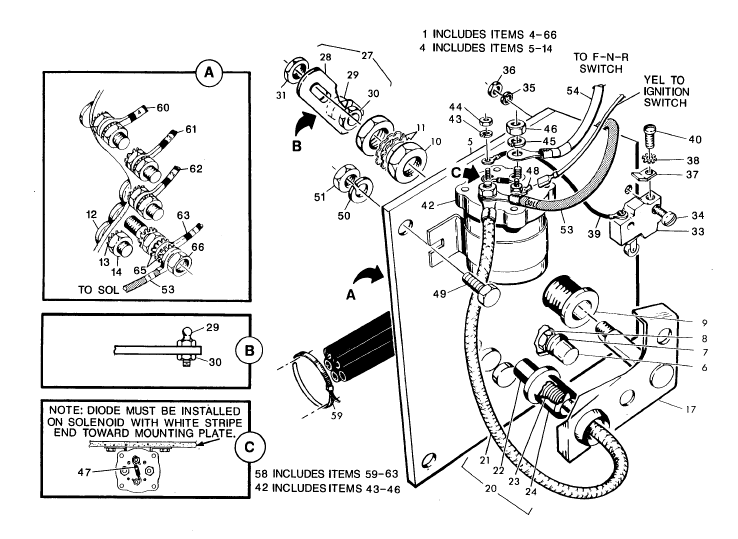 starter solenoid wiring diagram for 985 ezgo golf cart