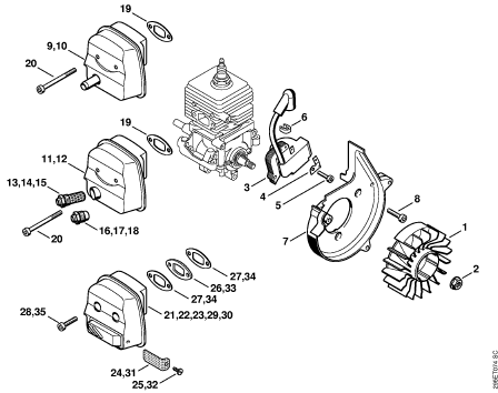 Stihl Bg72 Parts Diagram