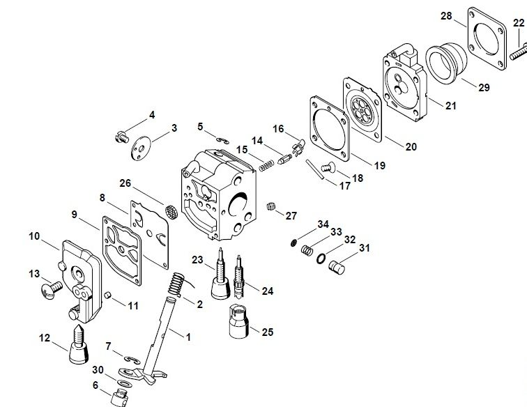 5 x Carb Kit For STIHL FS 46 55 75 80 85 FC 55 75 HL75 HT 70 75 HS 75 80 85 BG75