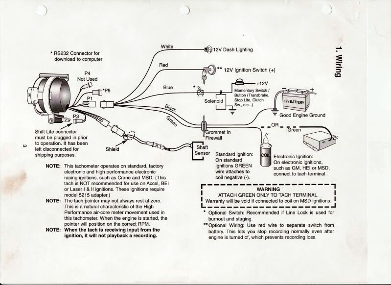 sun super tach 2 wiring diagram - wiring diagram and