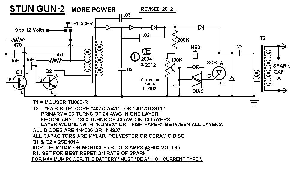 Taser Circuit Diagram