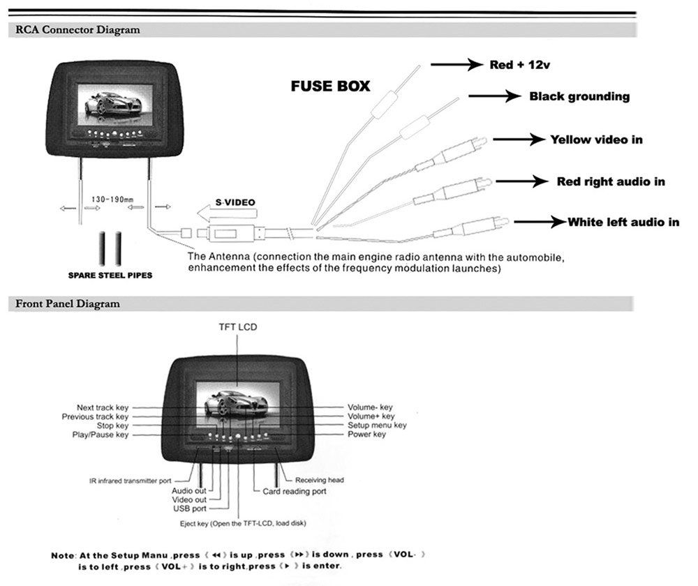 Tft Lcd Monitor Reversing Camera Wiring Diagram