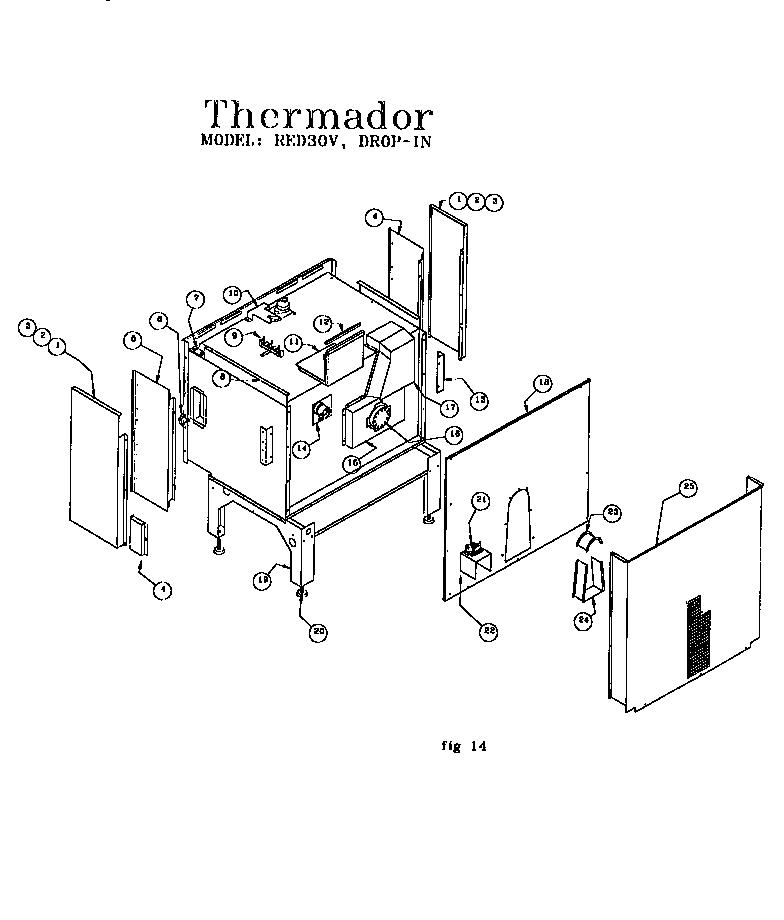 Thermador Parts Diagram