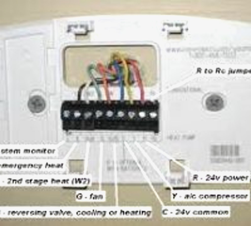 Thermostat Wiring Diagram Rth2510