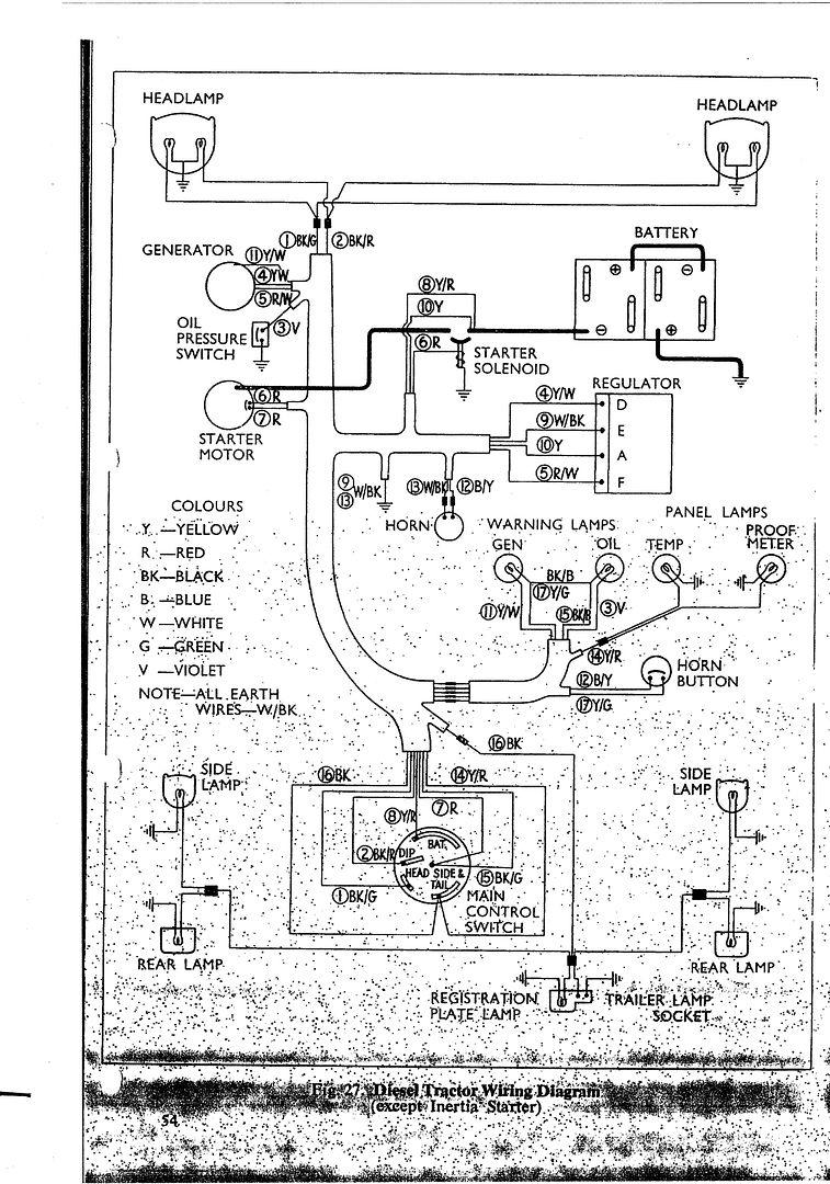 Tractor Dynamo Wiring Diagram on