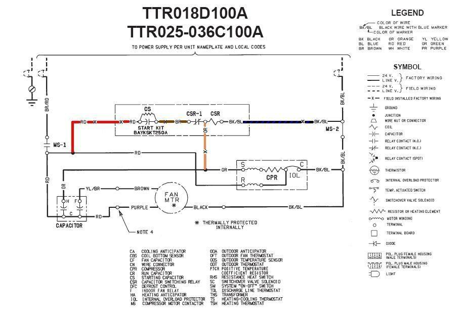 Trane 4ttb3024g1000aa Low Voltage Wiring Diagram