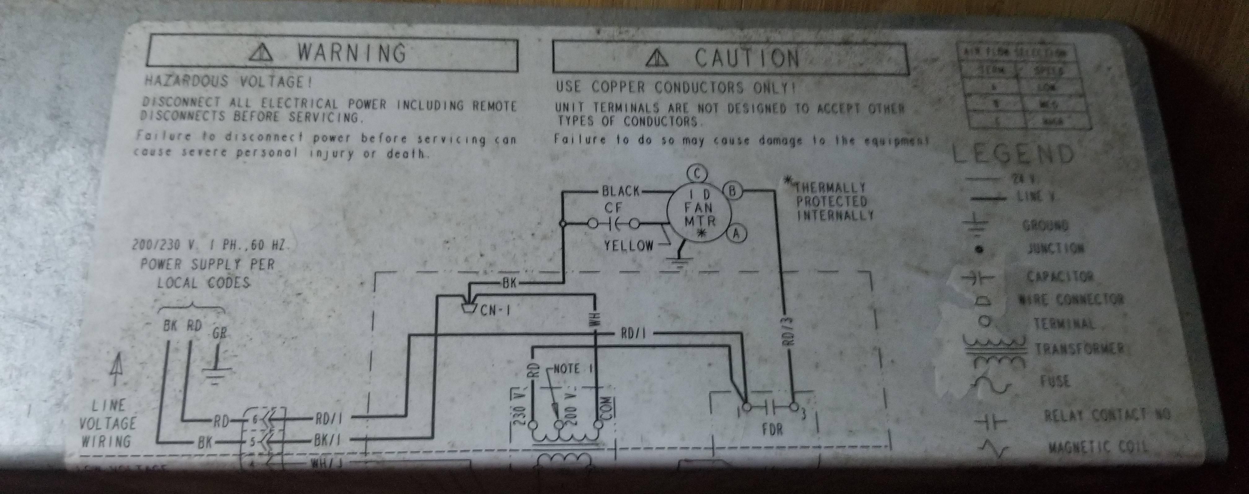 Trane Air Handler Wiring Diagram Model Twe036c140b0