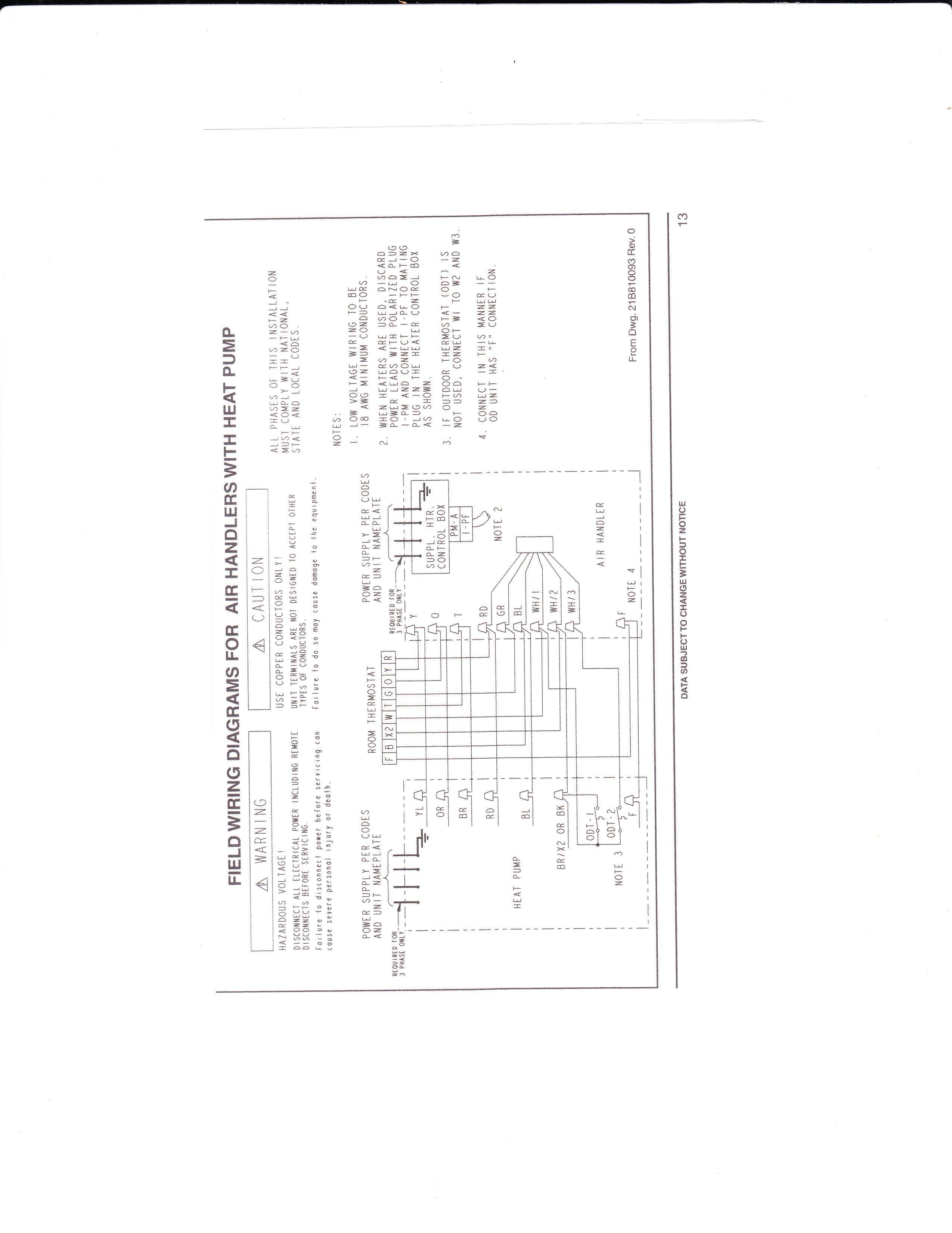 Trane Weathertron Thermostat Wiring
