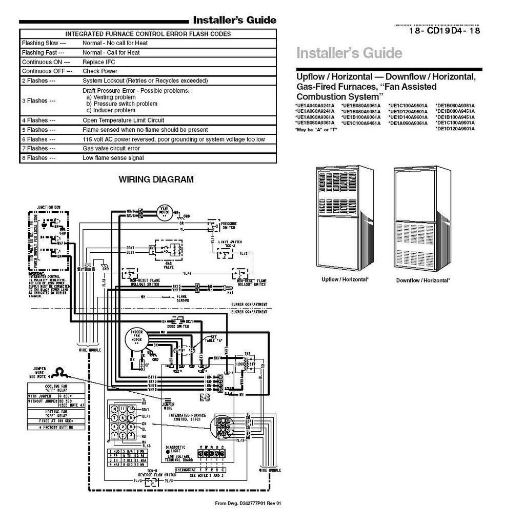 Trane Xb1000 Wiring Diagram