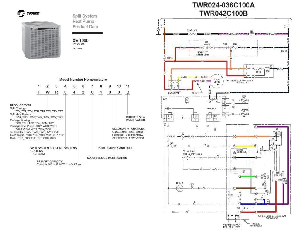 Trane Wiring Diagrams - Data Wiring Diagrams