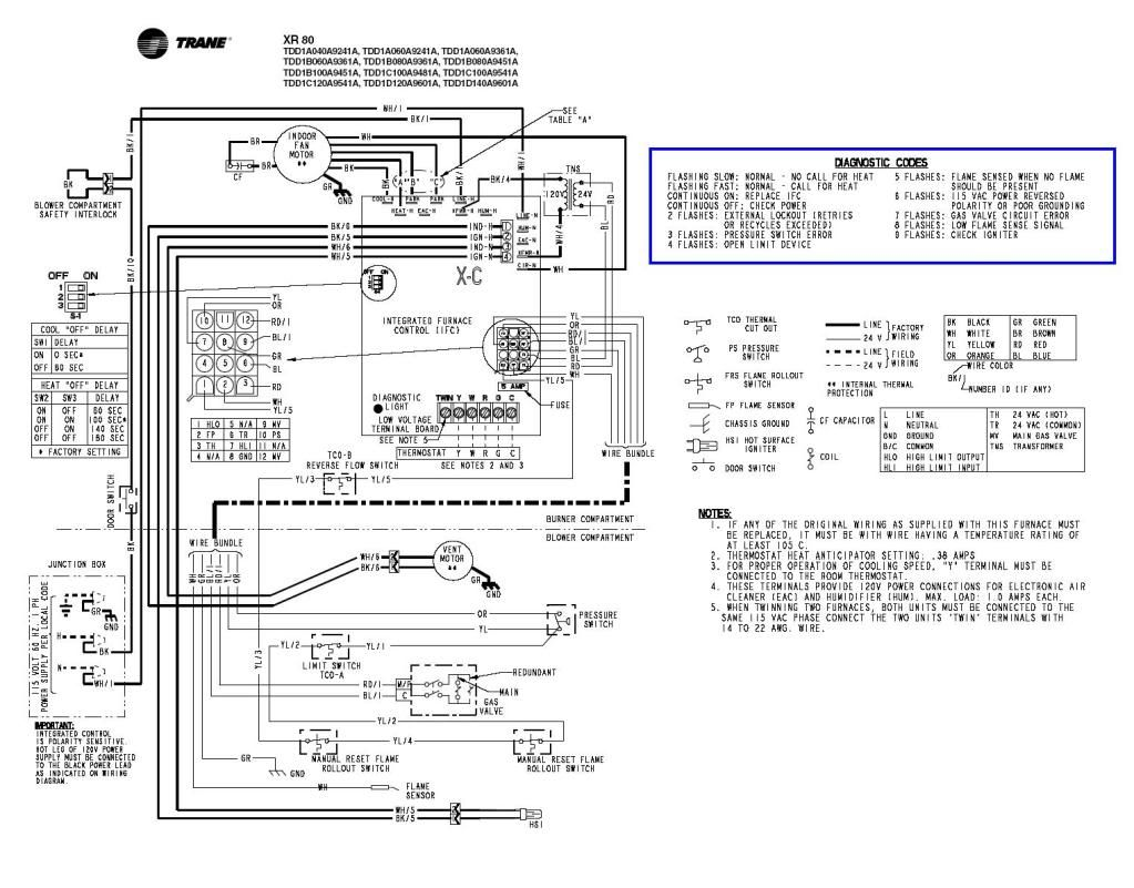 trane-xl90-wiring-diagram-7  Stage Heat Thermostat Wiring Diagram Free Picture on