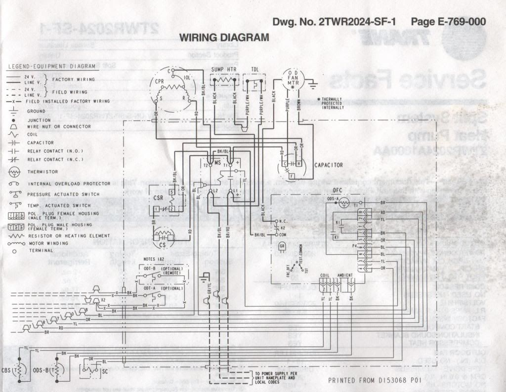 Trane Xr12 Capacitor Wiring Diagram