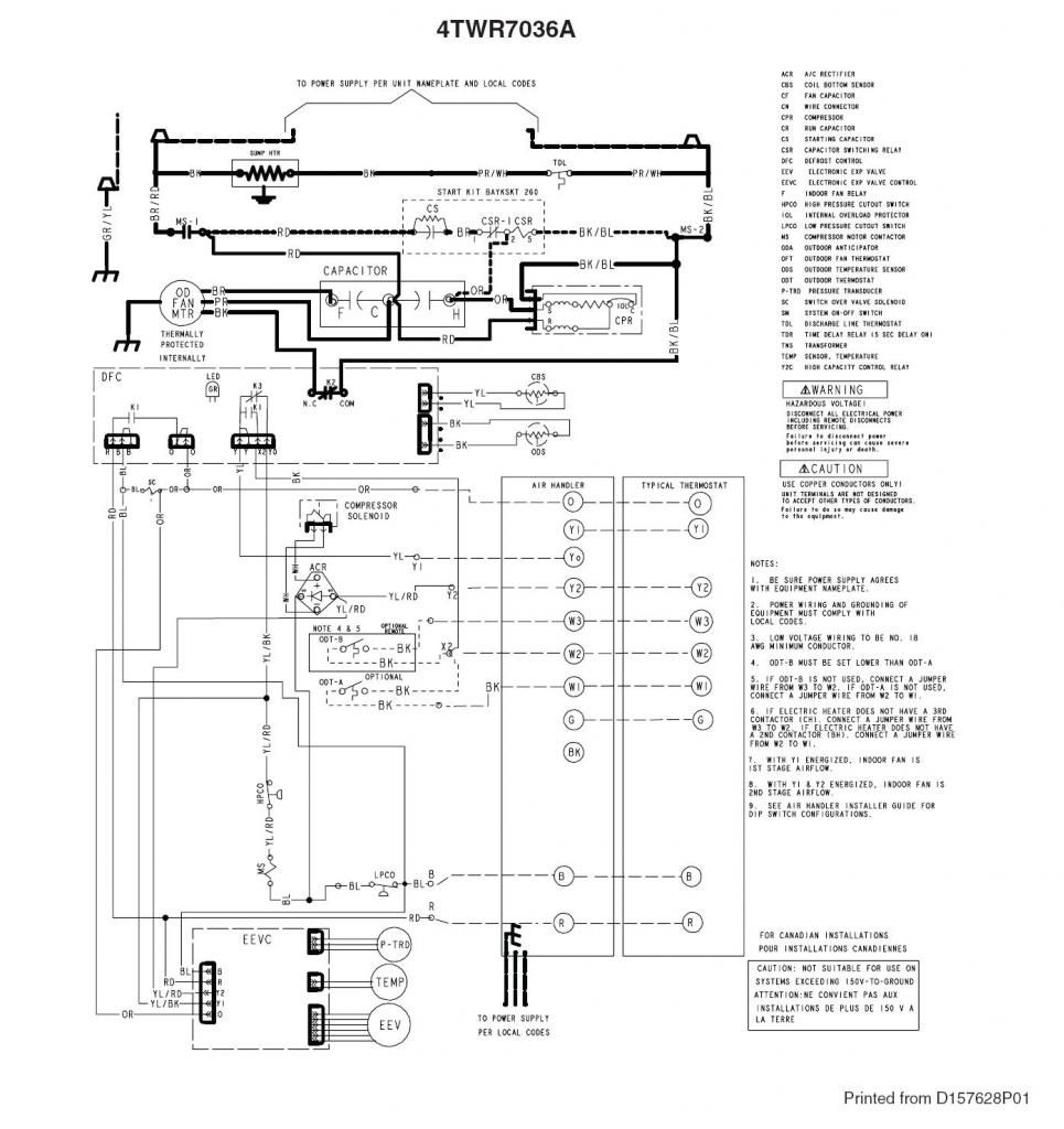 Trane Xv95 Thermostat Wiring Diagram on