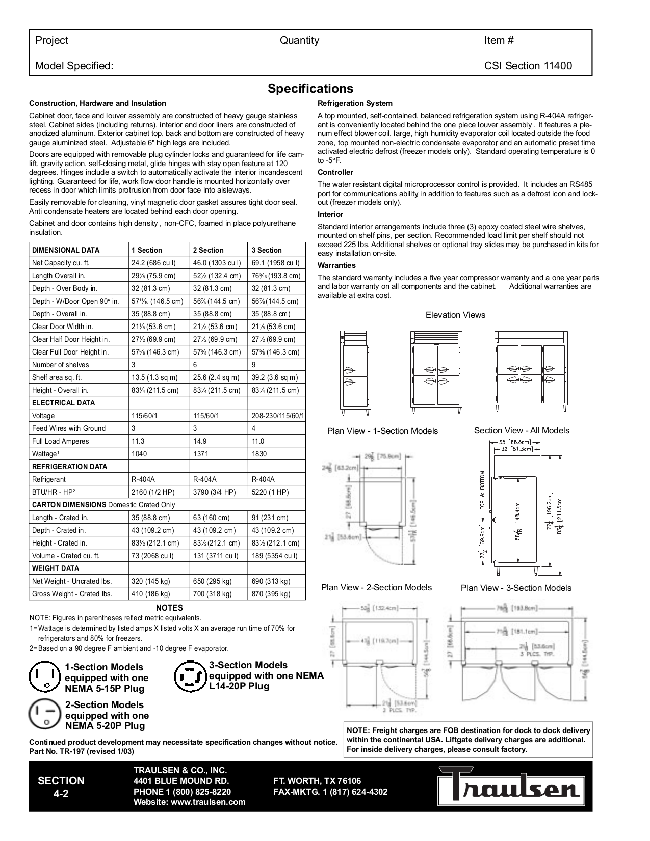 Traulsen Freezer Wiring Diagram