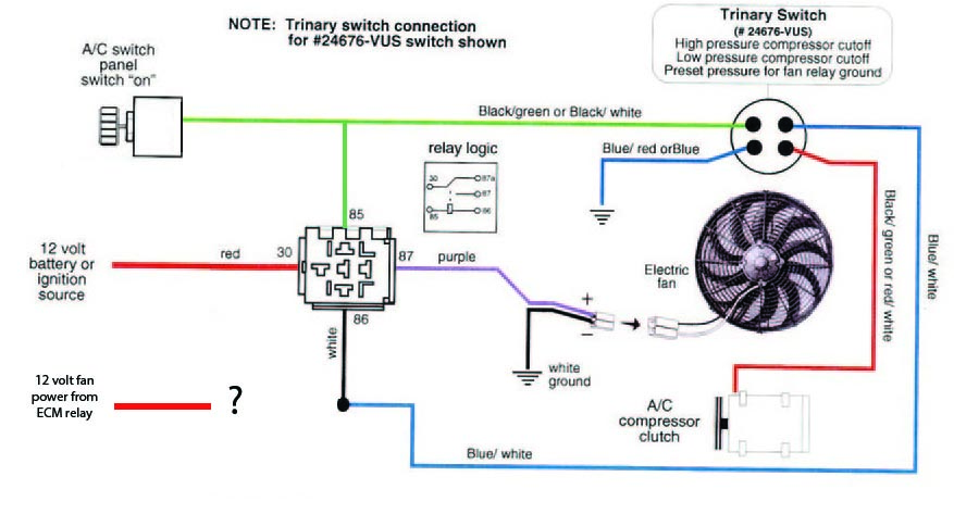 A C Trinary Switch Wiring Diagram - Wiring Diagrams DataUssel