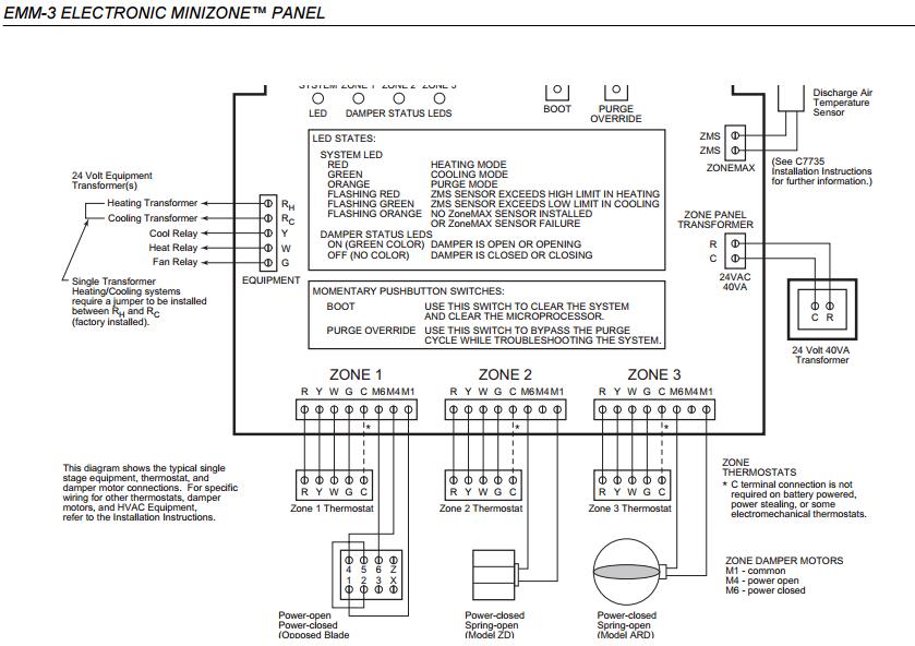 Trol A Temp Zone Damper Wiring Diagram