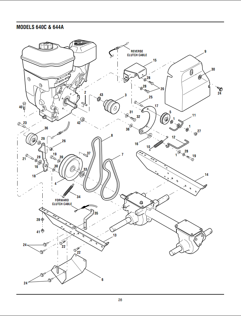 Troy Bilt Belt Diagram