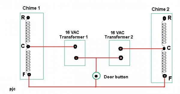 Two Chime Doorbell Wiring Diagram on