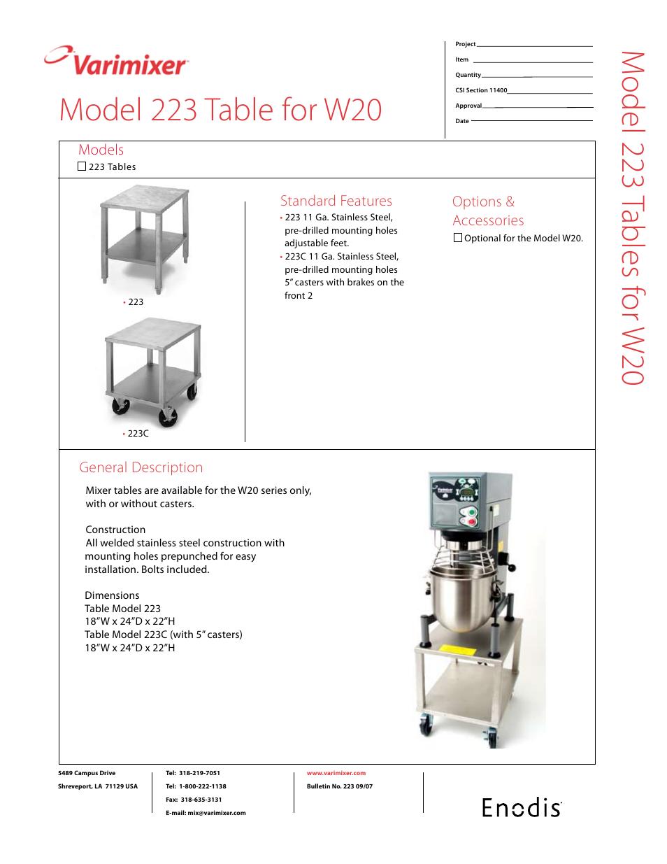 Varamixer W20 Wiring Diagram
