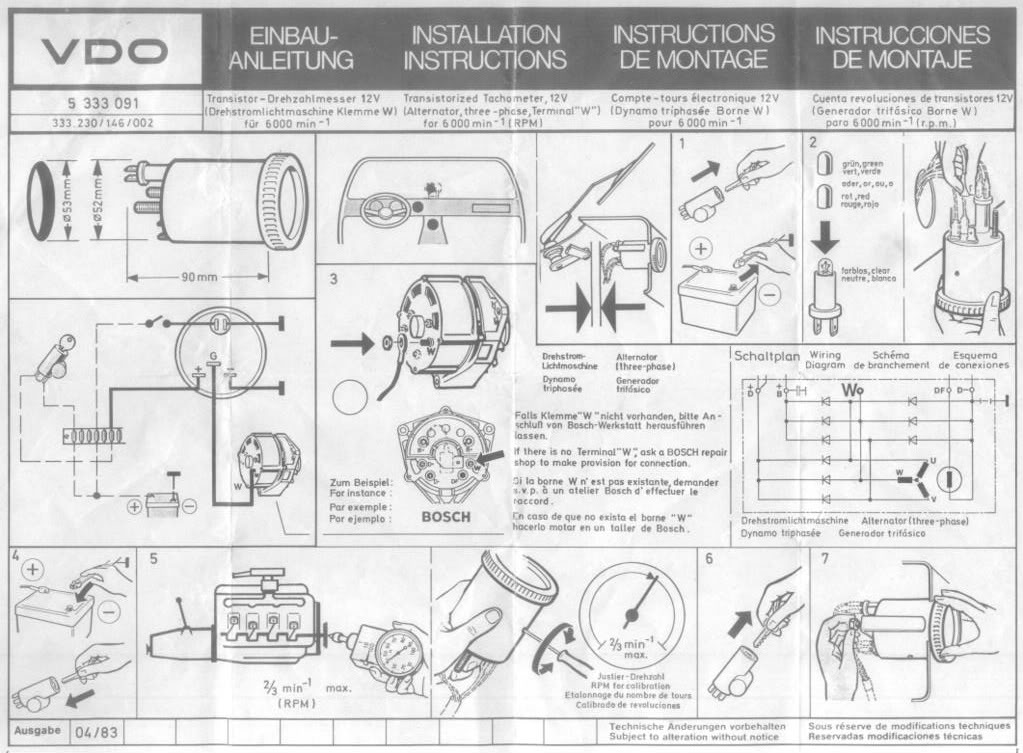 Wiring Diagram For Vdo Tachometer from schematron.org
