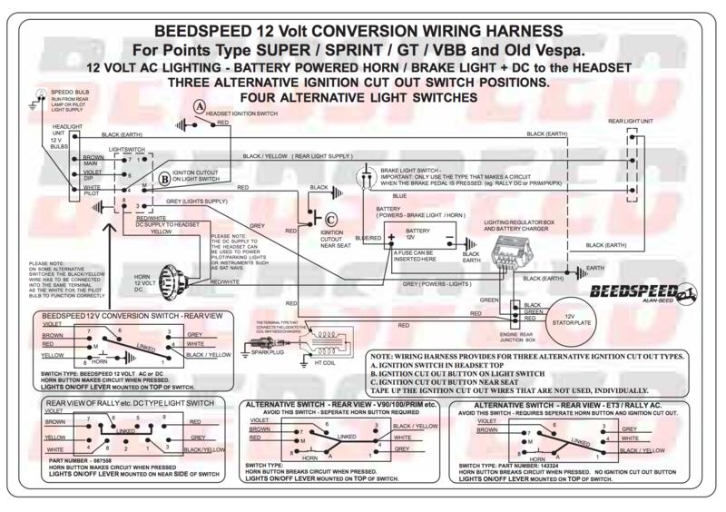 Vespa 12v Conversion Wiring Diagram