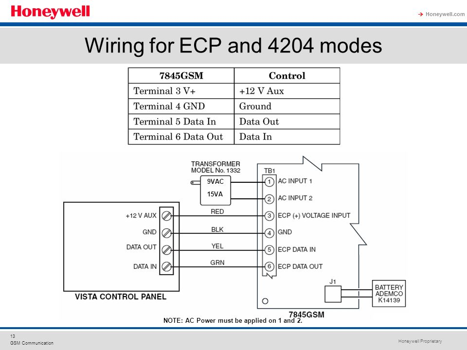 Vista 128bpt And 4202 Relay Wiring Diagram