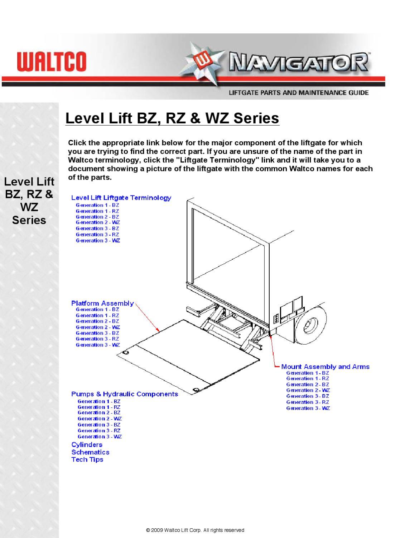 Waltco Liftgate Wiring Diagram