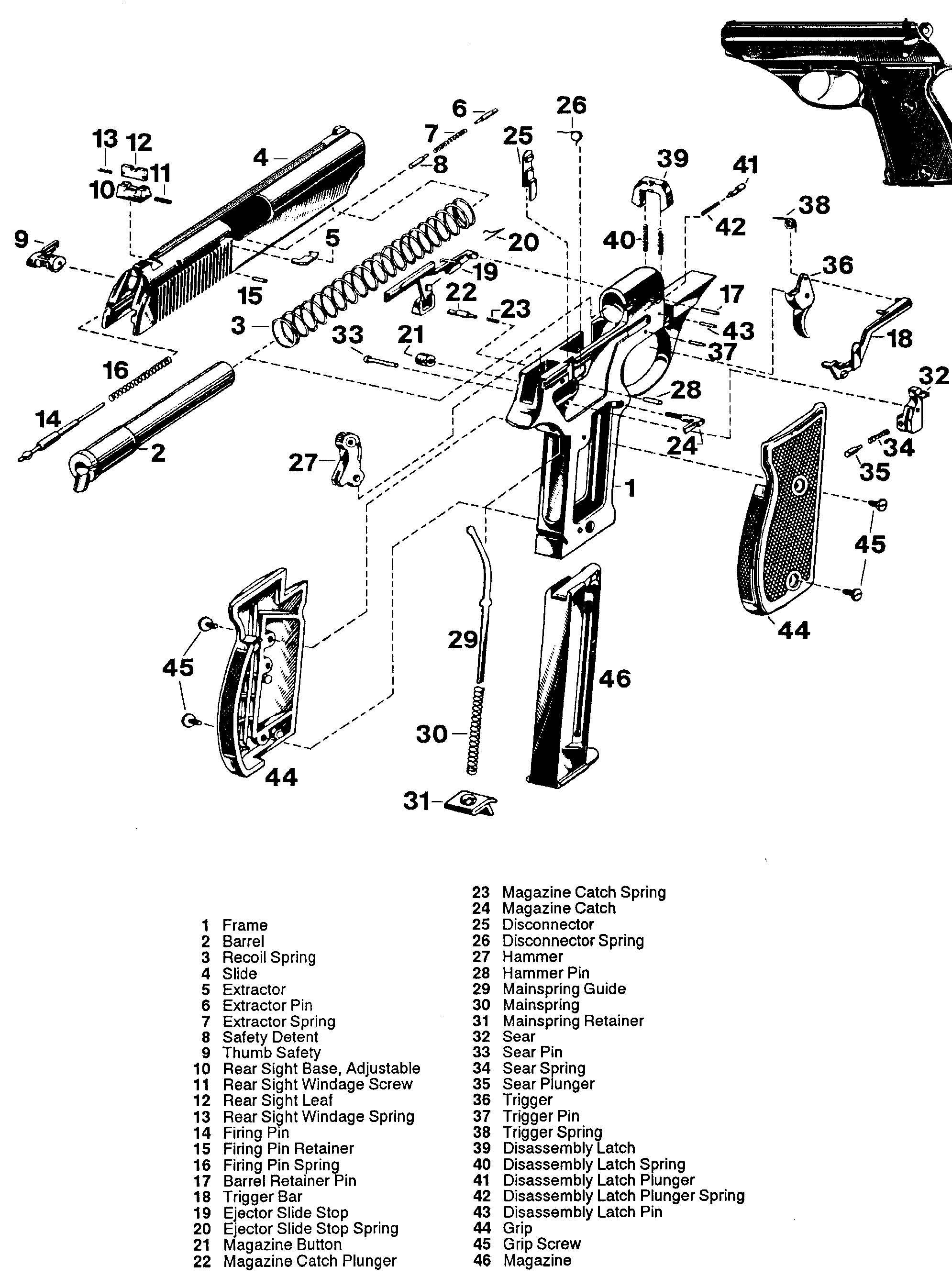 Walther P22 Parts Diagram - Wiring Diagrams Schema