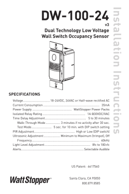 Wattstopper Wiring Diagrams | Repair Manual on