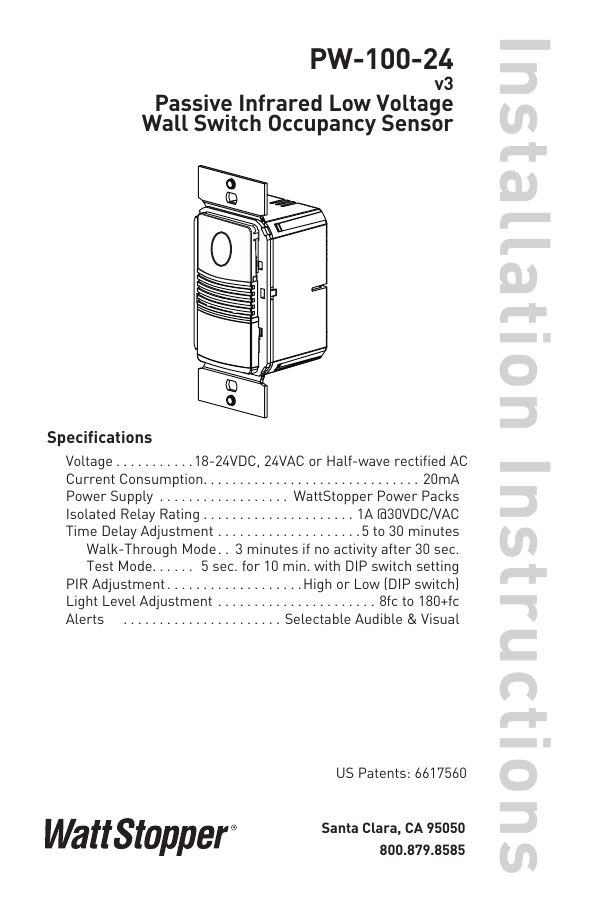 Wattstopper Pw 100 Wiring Diagram