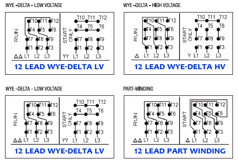 weg-12-lead-motor-wiring-diagram Which Wiring Connection Is Preferred In Motor For Industrial Use on