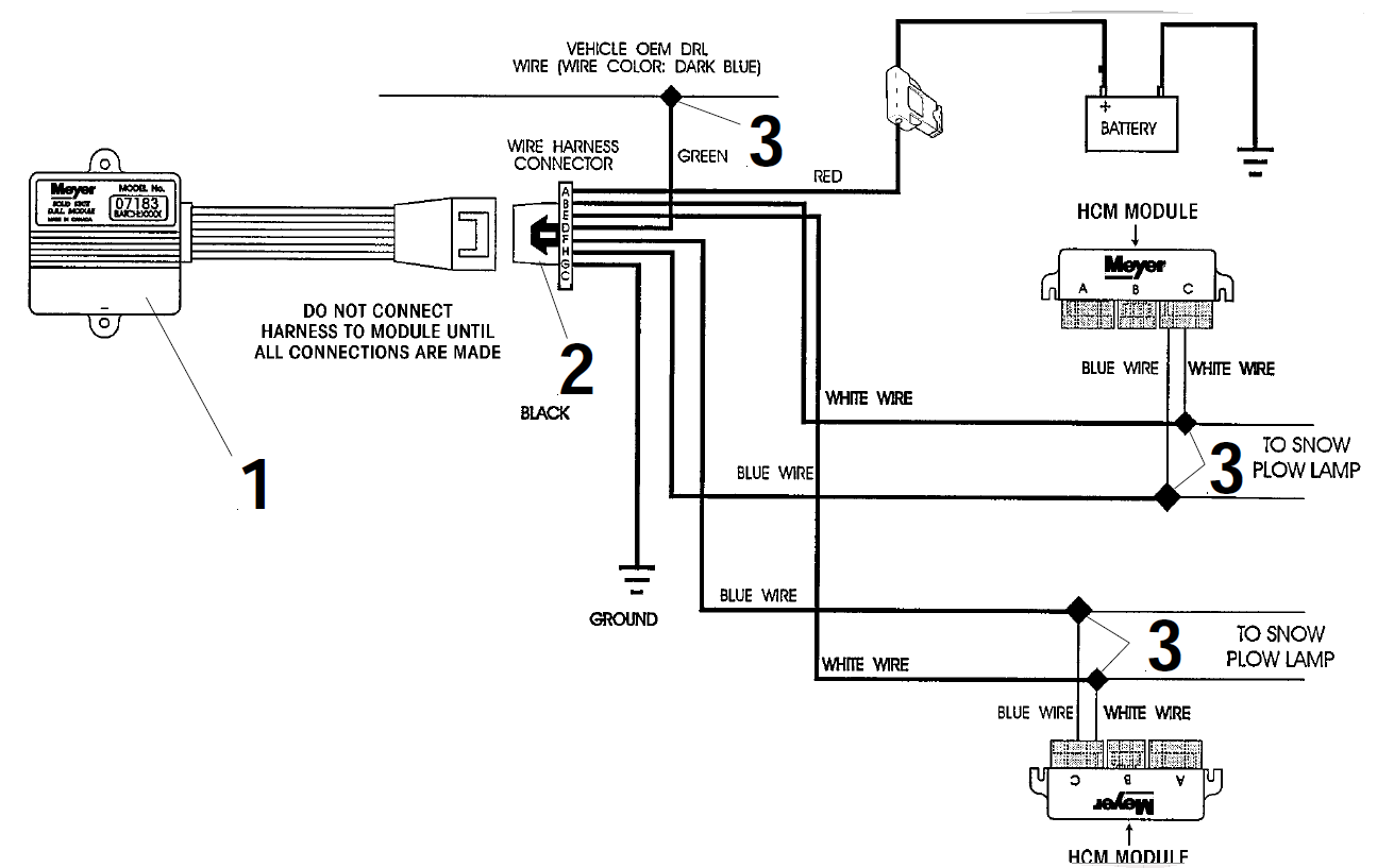 Western Snow Plow Lights Wiring Diagram