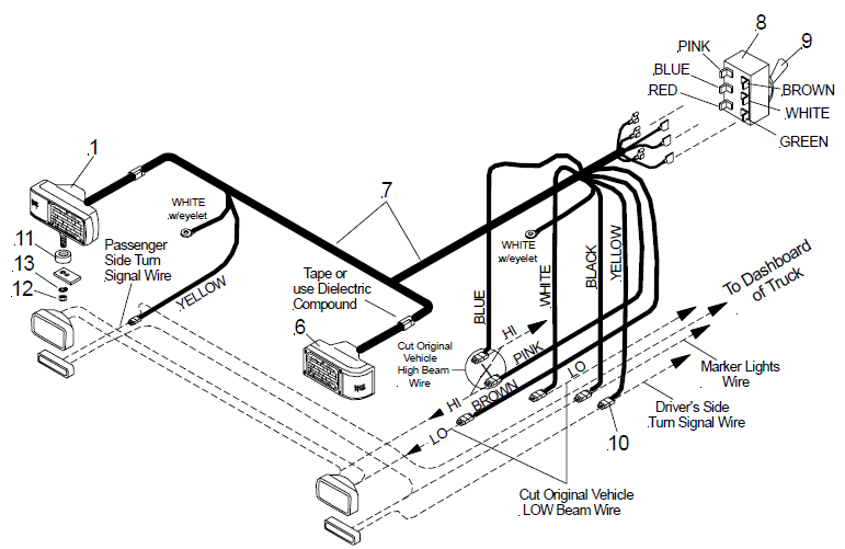Wiring Diagram Controller Together With Fisher Snow Plow Light