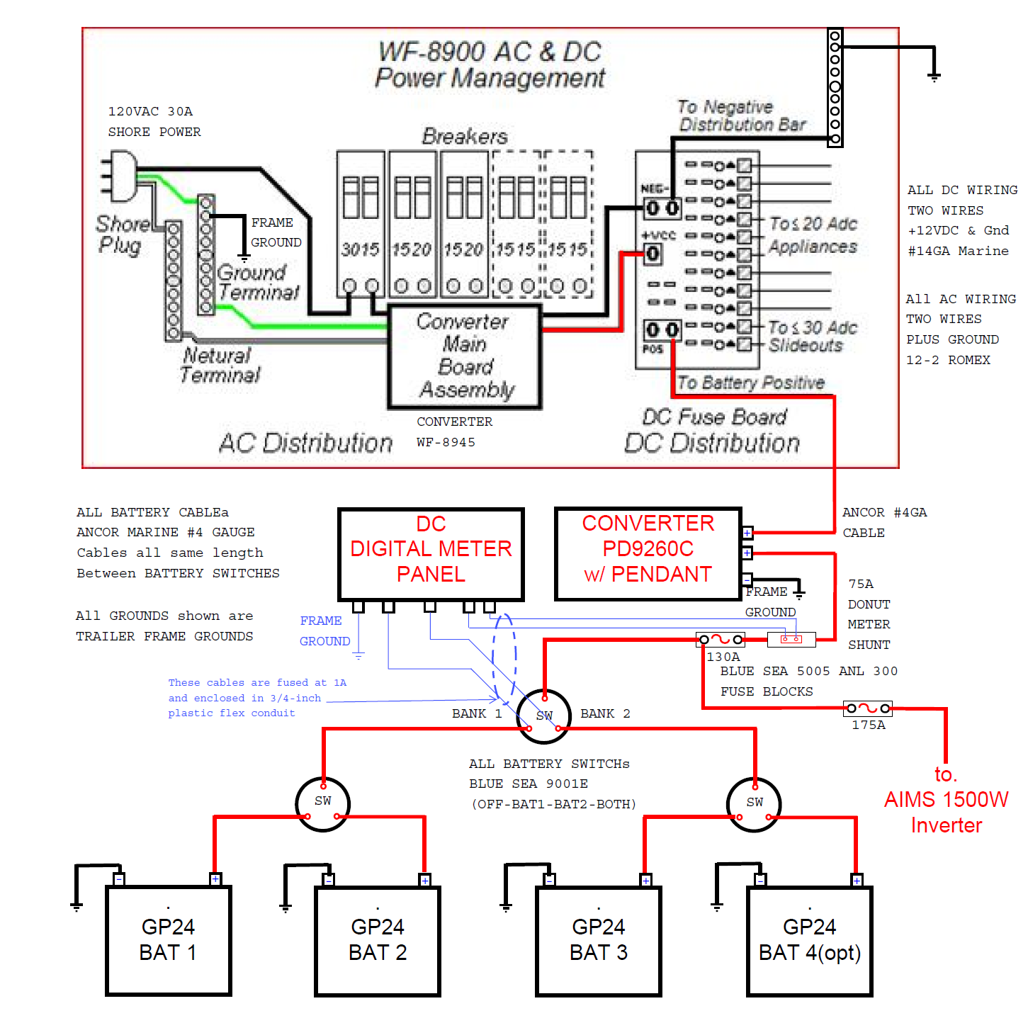 Rv Converter Charger Wiring Diagram: Wfco 8900 Wiring Diagram