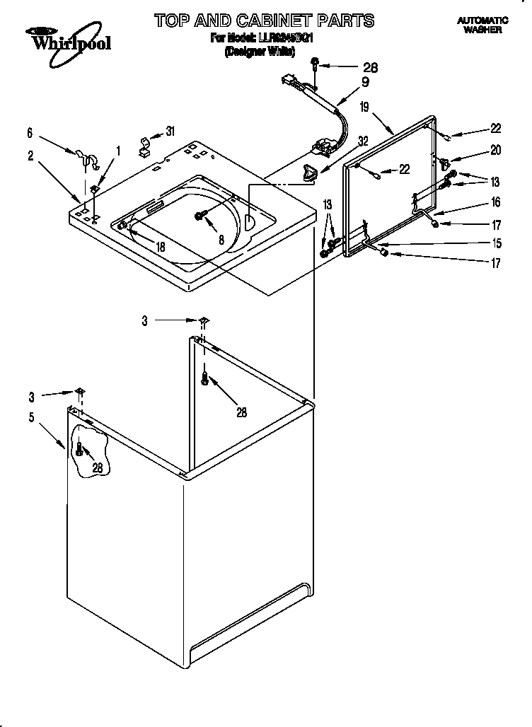 Whirlpool Cabrio Washer Parts Diagram