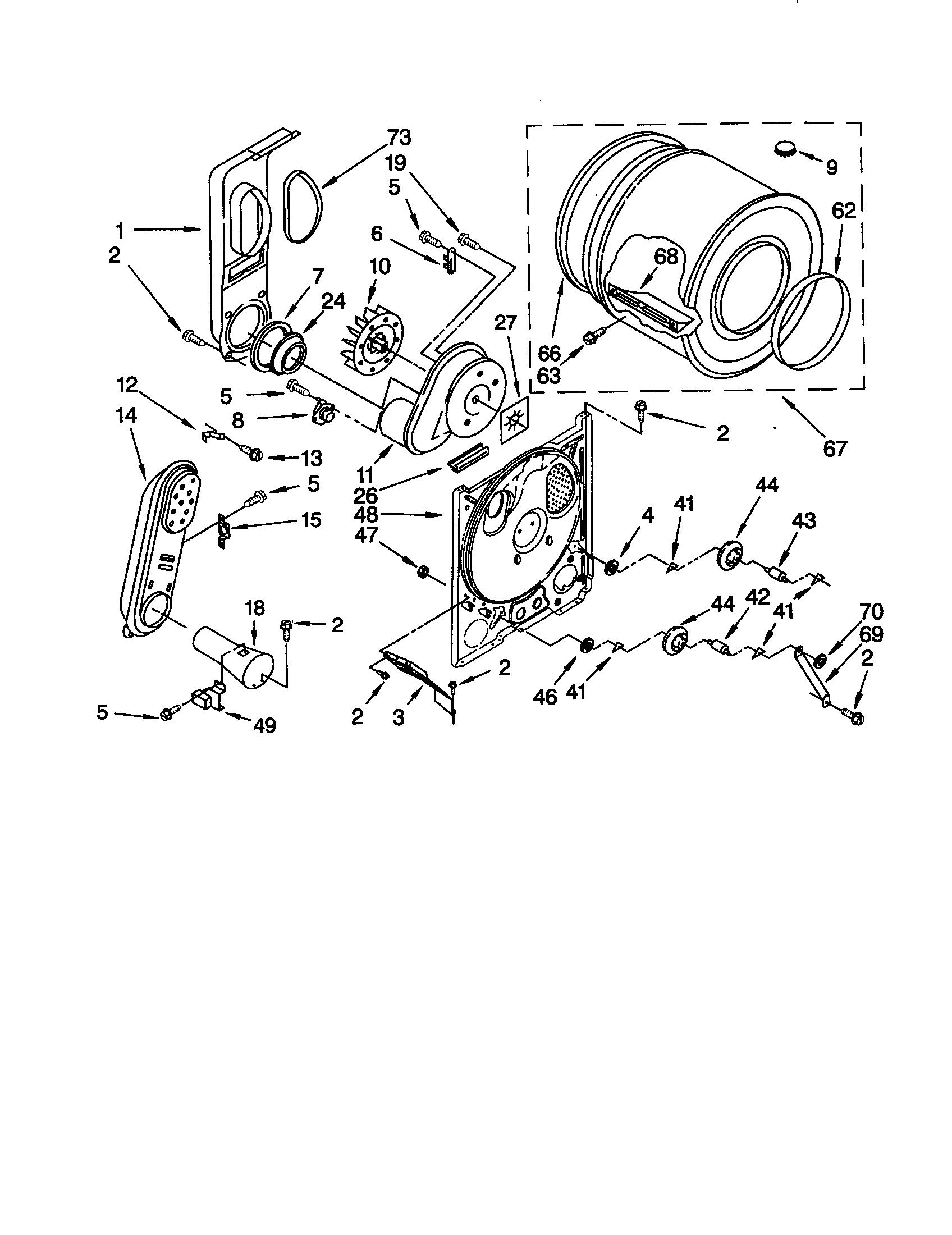Wiring Diagram  29 Whirlpool Duet Dryer Parts Diagram